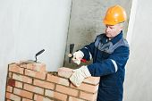 construction mason worker bricklayer poster
