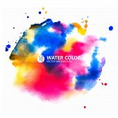 watercolor, background, rainbow, paint, color, water, vector, abstract, splash, colorful, design, paper, art, painting, illustration, blue, red, template, texture, grunge, textured, drawn, orange, colors, watercolour, bright, wallpaper, banner, ink, hand, poster