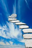 Stone pathway leading to heaven poster