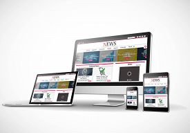 Digital devices with a responsive news website