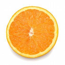Orange isolated on white background. Flat. Fruit.