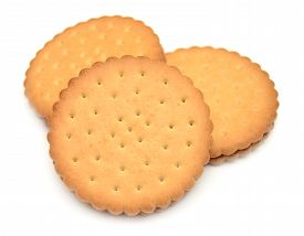 Cookies isolated on a white background. Food.