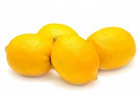 Lemon isolated on white background. Flat. Fruit.