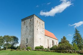 Medieval church in Poide, island of Saaremaa, Estonia.