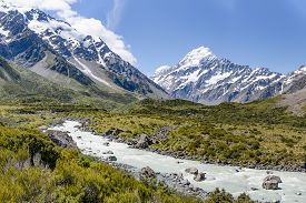 Mount Cook National Park, New Zealand's South Island.
