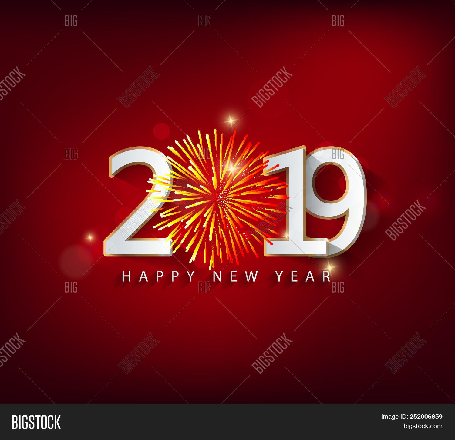 Happy New Year 2019 Image Photo Free Trial Bigstock