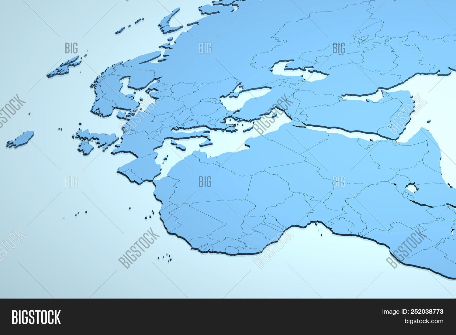Europe Africa Middle Image & Photo (Free Trial) | Bigstock