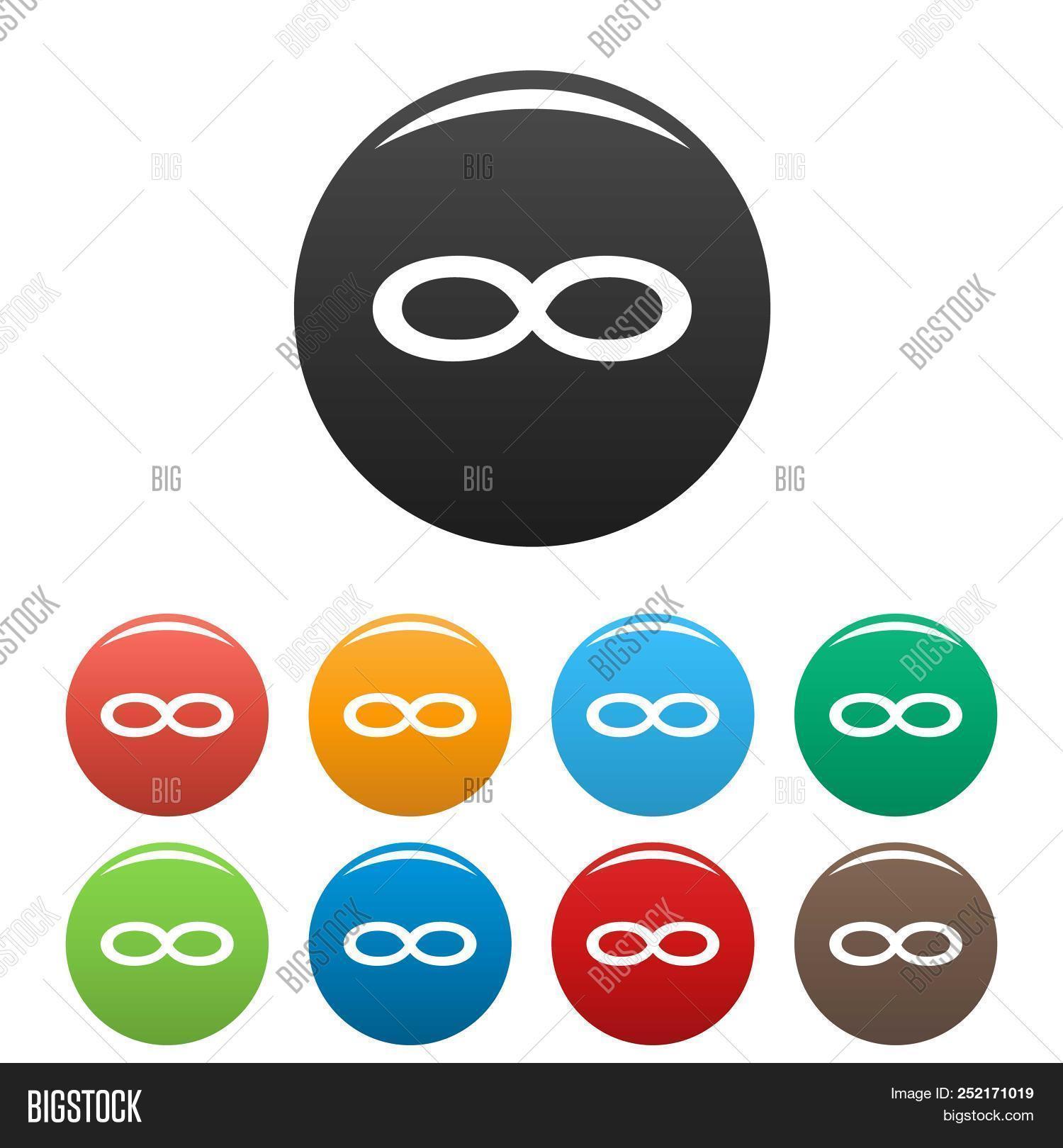 Infinity Symbol Icons Image Photo Free Trial Bigstock