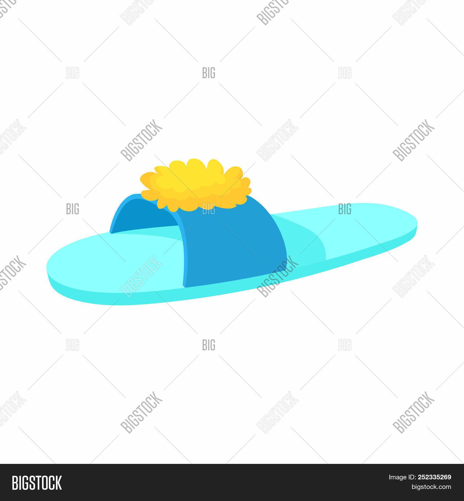 Blue Slipper Yellow Image Photo Free Trial Bigstock