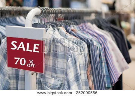 Sale Shopping Season,sale 70% Off Label Sign Sticker In Front Of Shirt Shop ,sale Shopping Season Fo