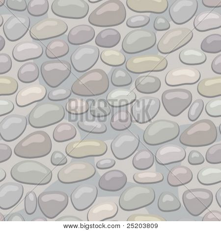 Stoned wall. Seamless vector wallpaper