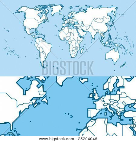 World Map. Vector