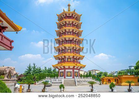 Qibao Temple At Qibao Ancient Town In Shanghai
