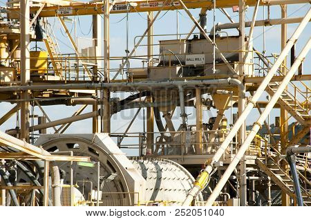 Gold Mining Process Plant In The Outback