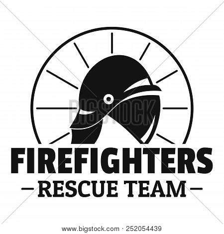 Firefighters Rescue Team Logo. Simple Illustration Of Firefighters Rescue Team Vector Logo For Web D