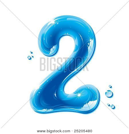 ABC series - Water Liquid Numbers -  Number Two