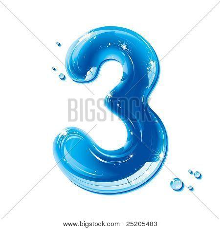 ABC series - Water Liquid Numbers - Number Three