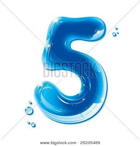 ABC series - Water Liquid Numbers - Number Five