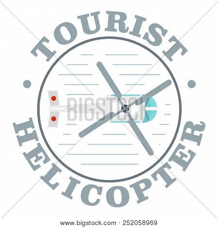Tourist Helicopter Icon. Flat Illustration Of Tourist Helicopter Vector Icon For Web Design