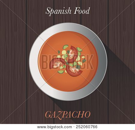 Spanish Food: Gazpacho. Typical Spanish Tomato Cold Soup
