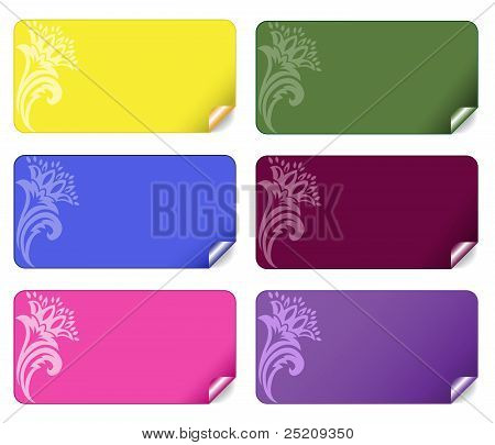 Set Of Colored Stickers