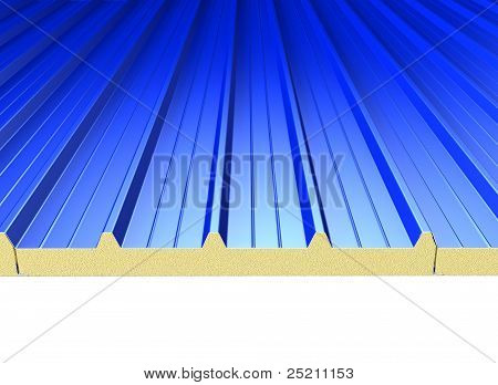 Blue Roof Panels