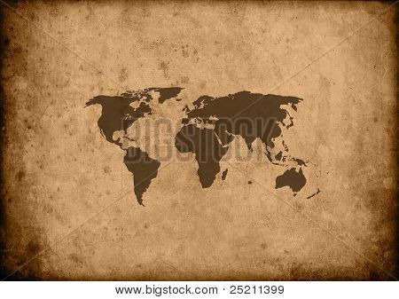 Papirus mapa świata