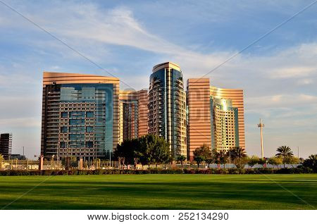 Skyscrapers Of The Abu Dhabi City, United Arab Emirates