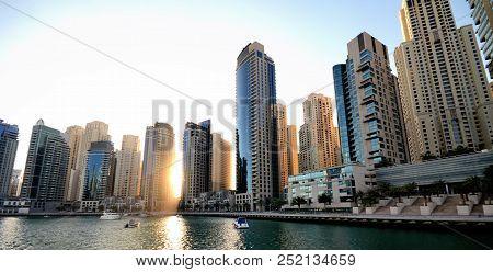 Skyscrapers Of The Dubai City, United Arab Emirates