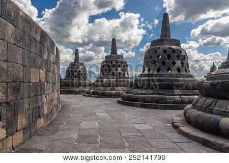 In July I Visited The Buddhist Temple Borobudur In East Java (indonesia) And Photographed A Typical