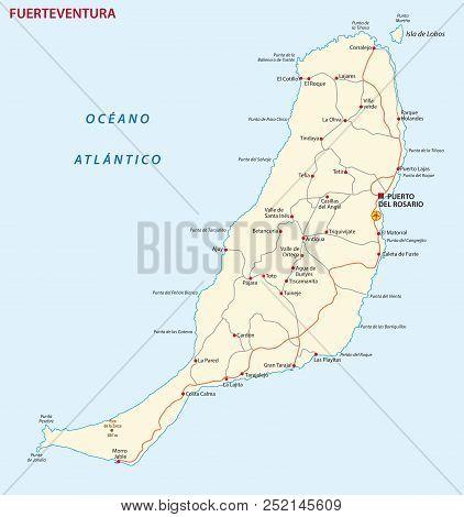 Vector Road Map Of Canary Island Fuerteventura Map.