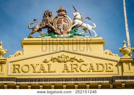 Royal Arcade Building In Melbourne, Victoria, Australia