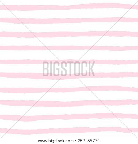 Tile Vector Pattern With Pink And White Stripes Background