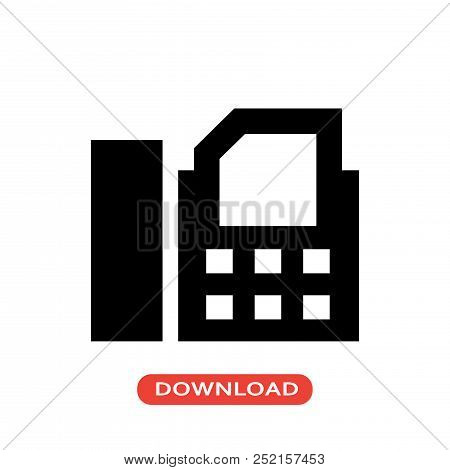 Fax Machine Vector Icon Flat Style Illustration For Web, Mobile, Logo, Application And Graphic Desig