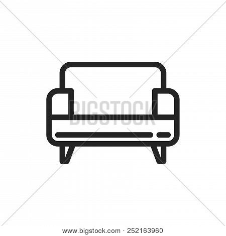 Surprising Sofa Icon Isolated On Vector Photo Free Trial Bigstock Cjindustries Chair Design For Home Cjindustriesco