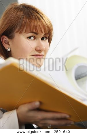 Women Holding A File