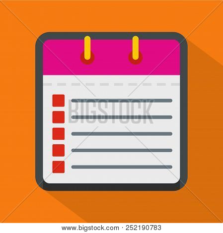 Calendar List Icon. Flat Illustration Of Calendar List  Icon For Web