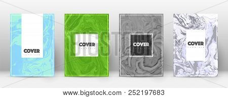 Abstract Cover. Good-looking Design Template. Suminagashi Marble Hipster Poster. Good-looking Trendy