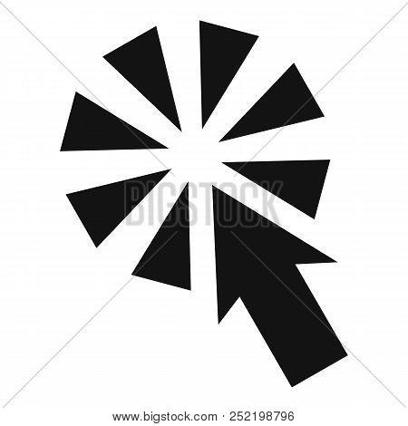 Cursor Interactive Click Icon. Simple Illustration Of Cursor Interactive Click  Icon For Web