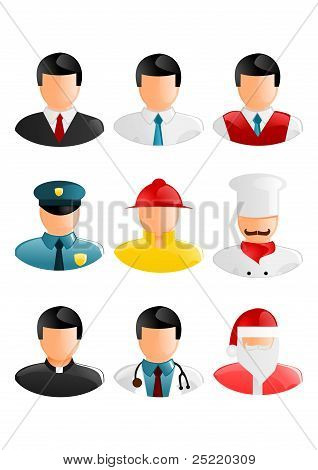 Collection of people occupation icons