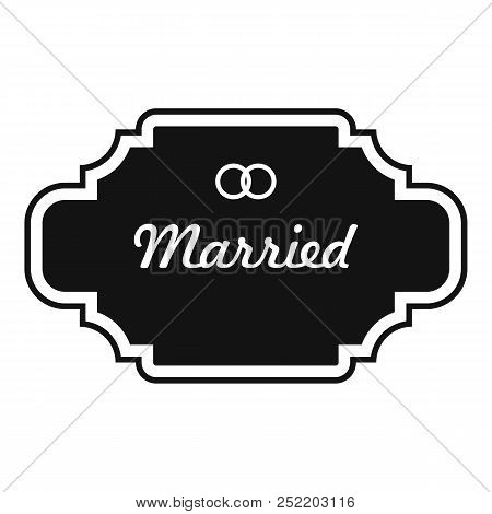 Married Label Icon. Simple Illustration Of Married Label  Icon For Web