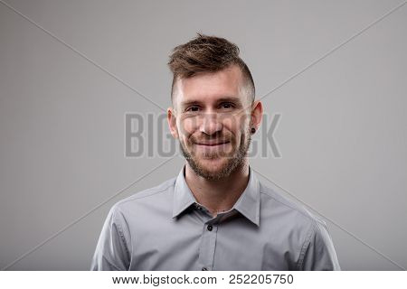Smiling Friendly Man With Modern Haircut