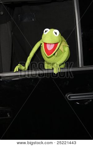 LOS ANGELES - NOV 12: Kermit at the world premiere of 'The Muppets' held at the El Capitan Theater on November 12, 2011 in Los Angeles, California
