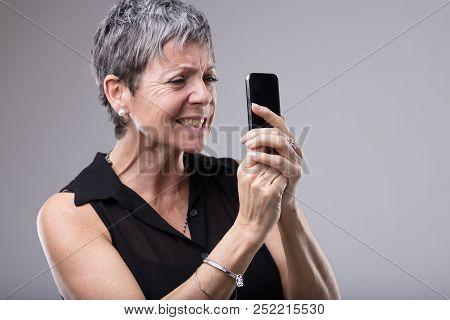 Frustrated Woman Gnashing Her Teeth