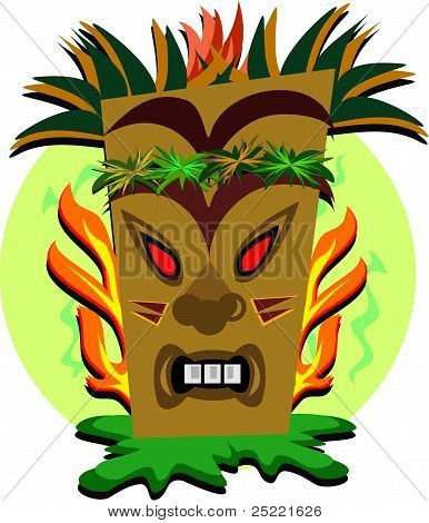 Tiki Teeth and Flames