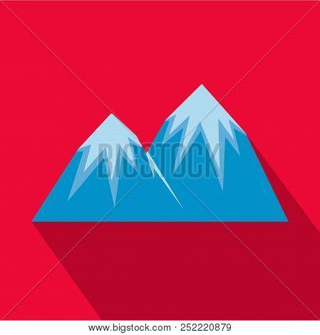 Snow Peak Icon. Flat Illustration Of Snow Peak  Icon For Web