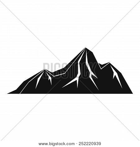 Tall Mountain Icon. Simple Illustration Of Tall Mountain  Icon For Web