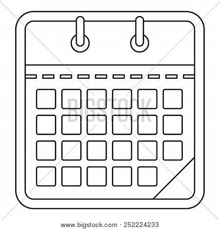 One Calendar Icon. Outline Illustration Of One Calendar  Icon For Web