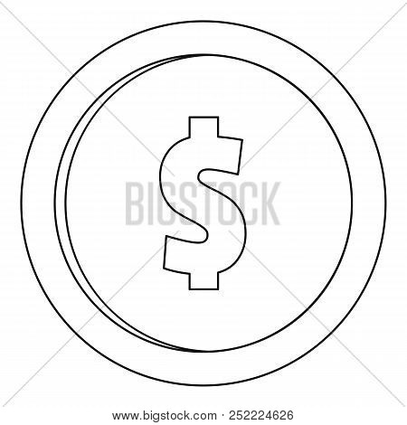 One Dollar Icon. Outline Illustration Of One Dollar  Icon For Web