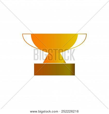 Gold Cup Award Sign. Modern Symbol Of Victory, Award Achievement Sport. Insignia Ceremony Awarding O